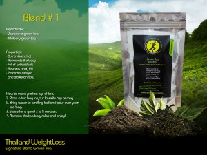 Thailand Weightloss Green Tea Blend 1